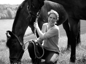 Julia with her horses